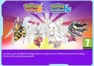 Pokémon Sun & Moon Event - Mega Stones Mawilite + Beedrillite + Audinite +Medichamite